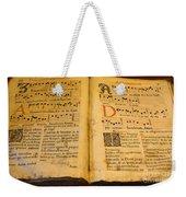 Latin Hymnal 1700 Ad Weekender Tote Bag