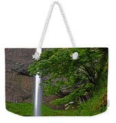 Latourell Falls Oregon - Posterized Weekender Tote Bag