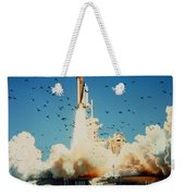Launch Of Space Shuttle Challenger 51-l Weekender Tote Bag