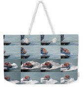 Launching The Lifeboat Weekender Tote Bag