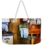 Laundry Drying In Kitchen Weekender Tote Bag by Susan Savad
