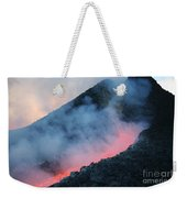 Lava Flowing From Base Of Hornito Weekender Tote Bag