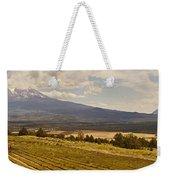 Lavender Farm Panorama Weekender Tote Bag