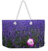 Lavender Field With Poppy Weekender Tote Bag