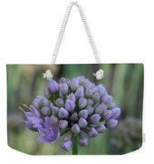 Lavender Flowering Onion Weekender Tote Bag