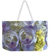 Lavender Wine Glasses Weekender Tote Bag