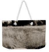 Lawn Chair View Of Field Weekender Tote Bag by Darcy Michaelchuk