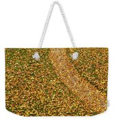 Lawn Covered With Fallen Leaves Weekender Tote Bag