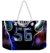 Lawrence Taylor  Weekender Tote Bag by Paul Ward