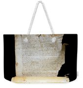 Lawsuit Of The Cathedral Chapter Of Calahorra. Pleito Del Cabildo Catedralicio De Calahorra Weekender Tote Bag