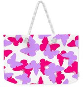 Layered Butterflies  Weekender Tote Bag by Louisa Knight