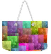 Layered Tiles Abstract Weekender Tote Bag