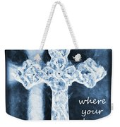 Lead Me To The Cross With Lyrics Weekender Tote Bag