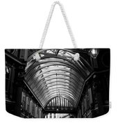 Leadenhall Market Black And White Weekender Tote Bag
