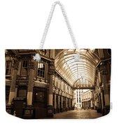 Leadenhall Market London Sepia Toned Image Weekender Tote Bag