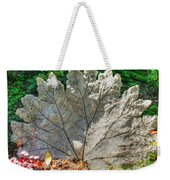 Leaf Art Weekender Tote Bag
