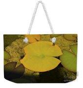 Leaf On A Pond Weekender Tote Bag