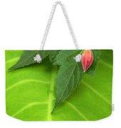 Leaf On Leaf With Red Bud Weekender Tote Bag