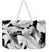 Leaf Study In Black And White Weekender Tote Bag