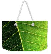Leaf Texture Weekender Tote Bag by Carlos Caetano