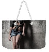 Lean Against The Wall Weekender Tote Bag