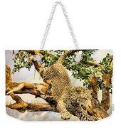 Leaping Leopard Weekender Tote Bag