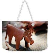 Leather Elk  Weekender Tote Bag