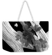 Leaves And Driftwood Bw Weekender Tote Bag
