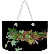 Leaves On Sidewalk Weekender Tote Bag