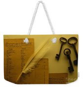 Ledgers And Keys Weekender Tote Bag