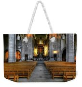 Leeds Cathedral Baptismal Font And Nave Weekender Tote Bag