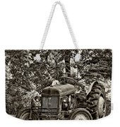 Left Fielder Sepia Weekender Tote Bag