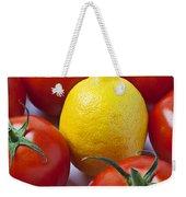 Lemon And Tomatoes Weekender Tote Bag