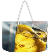 Lemon Drink Weekender Tote Bag by Carlos Caetano