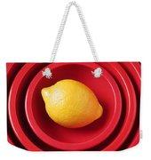 Lemon In Red Bowls Weekender Tote Bag