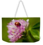 Lensbaby Ladybug On Pink Clover Weekender Tote Bag