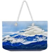 Lenticular And The Chugach Mountains Weekender Tote Bag