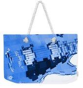 Abstract Guitar In Blue 2 Weekender Tote Bag