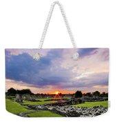 Lesnes Abbey Ruins Sunset Weekender Tote Bag