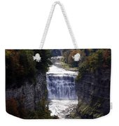 Letchworth State Park Middle Falls With Watercolor Effect Weekender Tote Bag