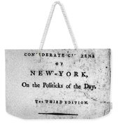 Letter From Phocion, 1784 Weekender Tote Bag