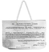 Letter Of Marque, 1812 Weekender Tote Bag