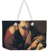 Leucippus, Ancient Greek Philosopher Weekender Tote Bag by Science Source