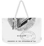Liberty Bell, 1839 Weekender Tote Bag