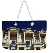 Library Of Celsus In Ephesus Weekender Tote Bag by Sally Weigand