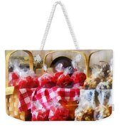 Licorice And Chocolate Covered Peanuts Weekender Tote Bag by Susan Savad
