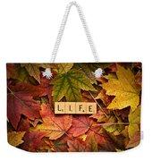 Life-autumn Weekender Tote Bag