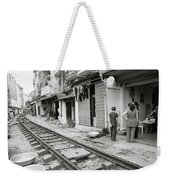 Life By The Tracks In Old Hanoi Weekender Tote Bag