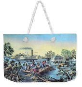 Life On The Mississippi, 1868 Weekender Tote Bag by Photo Researchers