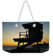 Lifeguard Silhouette Weekender Tote Bag